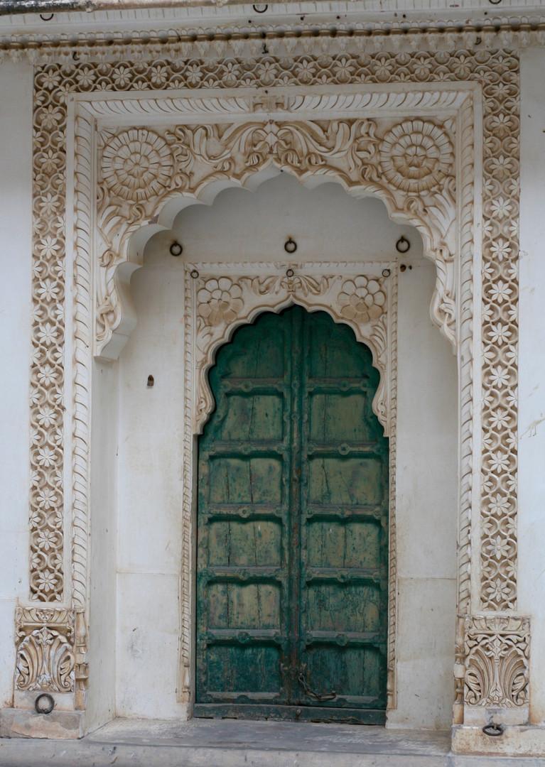 Beautiful Green Door in India