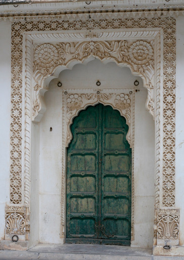 Beautiful Green Door in India