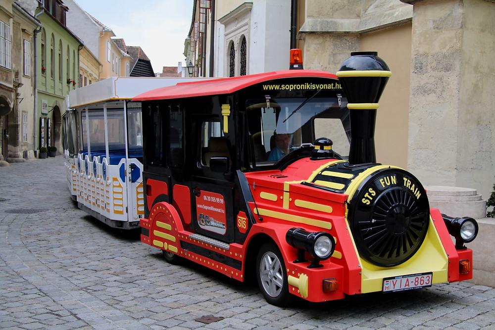 The fun train in Sopron, Hungary