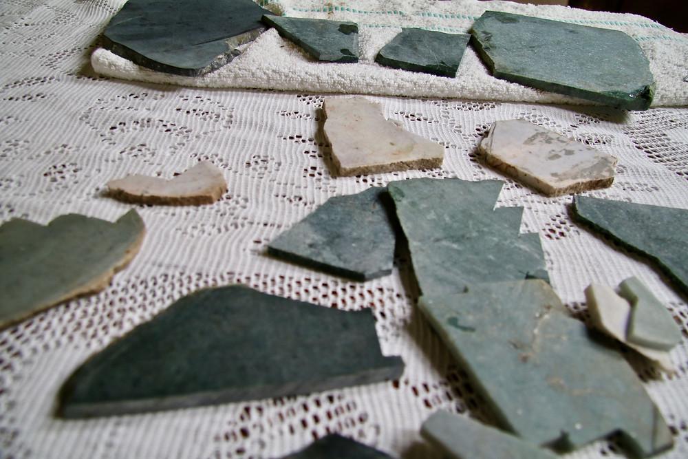 Colour range of raw Jade