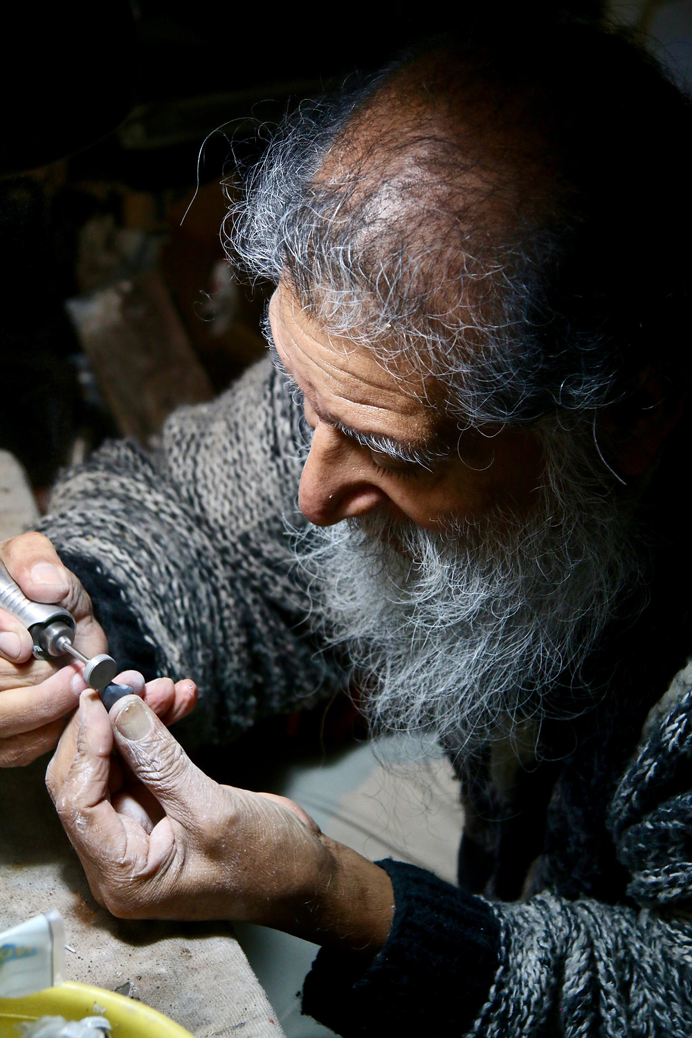 Francisco, our master jeweller at work.