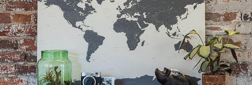 Smėlinis/tamsūs žemynai pasaulio žemėlapis