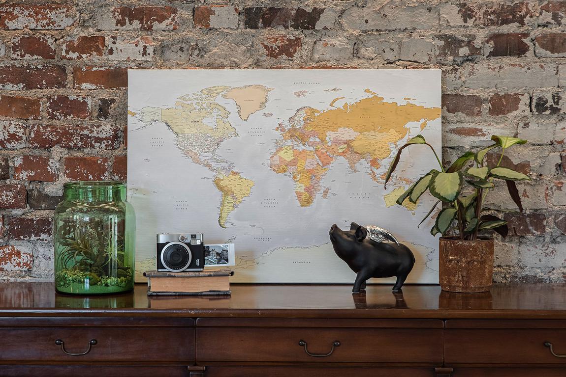 Pastelinis pasaulio žemėlapis