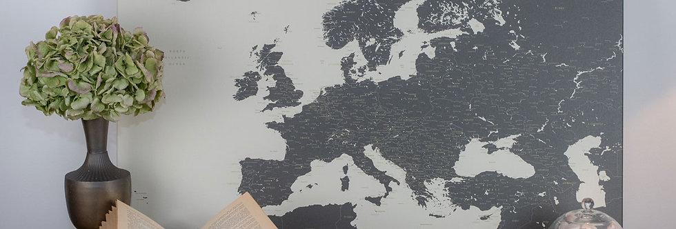 Gelsvas/tamsus europos žemėlapis