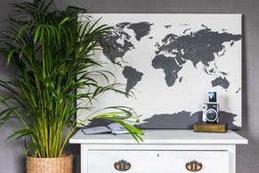 Pilkas/tamsūs žemynai pasaulio žemėlapis