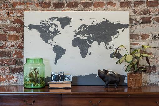 Žemėlapis ant drobės