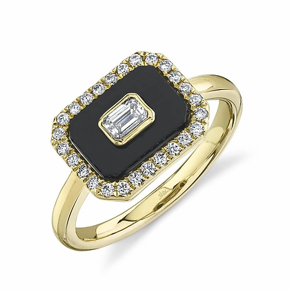 East To West Onyx Ring