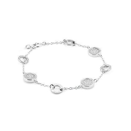 Hammered Station Bracelet - Silver