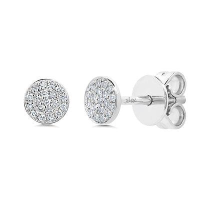 Small Pavé Stud Earring