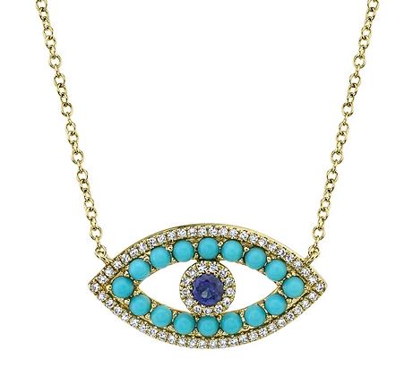 Turquoise Cabochon Evil Eye