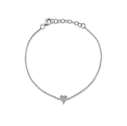 Diamond Pavé Heart Bracelet