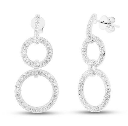 Diamond Pavé Circle Link Earring