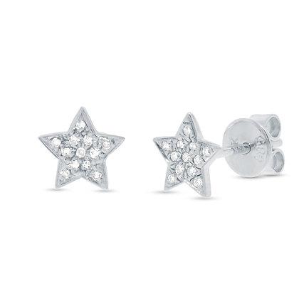 Diamond Pavé Star Earring