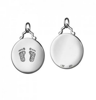 """""""Baby"""" Charm With White Sapphires, Small"""