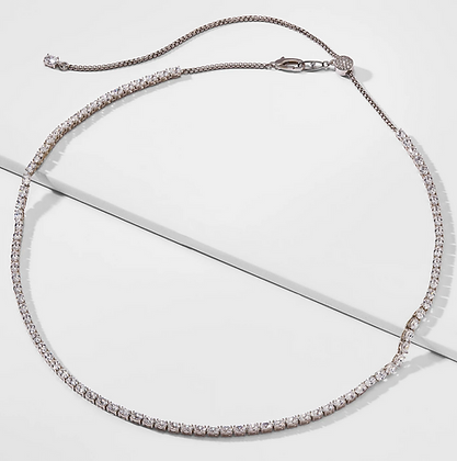 Oval Tennis Necklace