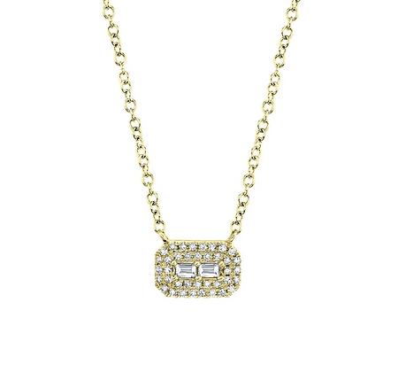 East West Baguette Necklace