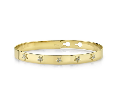 Star Latch Lock Bangle