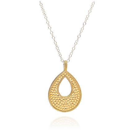 Long Open Drop Pendant Necklace - Reversible