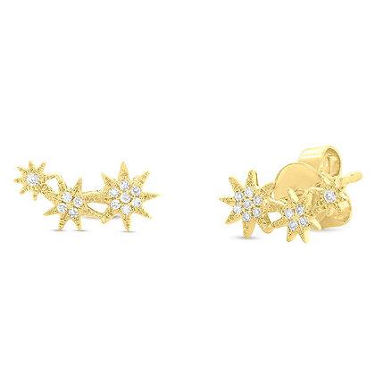 Cascade Star Stud Earring