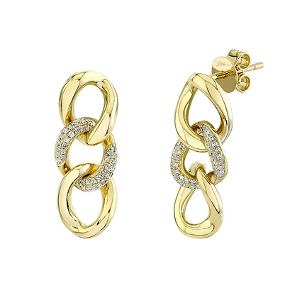 Diamond Pavé Link Earring