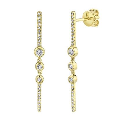 Linear Bezel Drop Earring