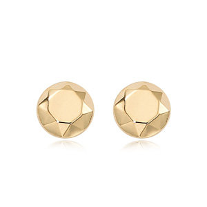 Faceted Dome Stud Earring