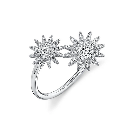 Diamond Star Ring - White