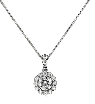 Crisscut Diamond Pendant