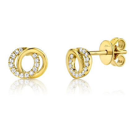 Love Knot Circle Earring - Yellow