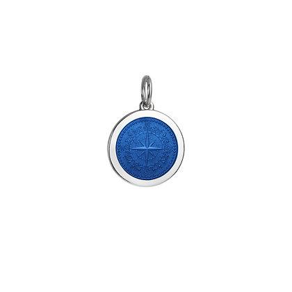 Medium Compass Rose Pendant - Royal Blue