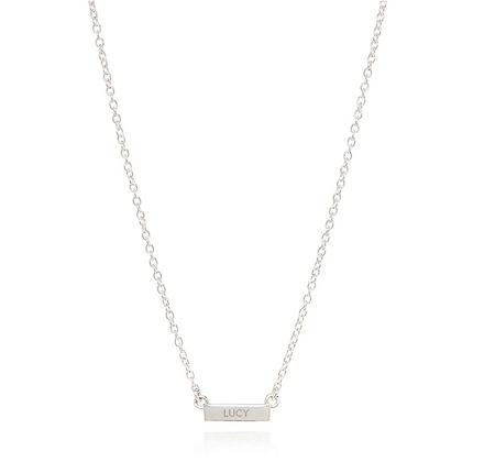 Engravable Mini Circle Necklace - Two Tone