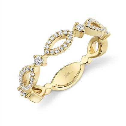 Marquise Motif Stack Band