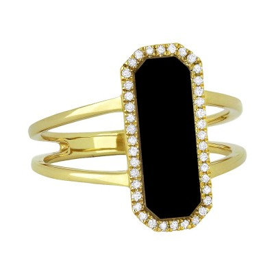 Onyx Art Deco Ring