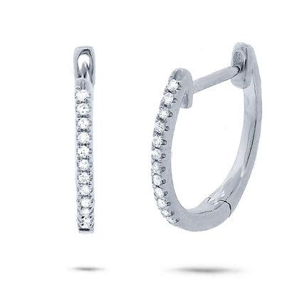 0.07ct Diamond Huggie Earring