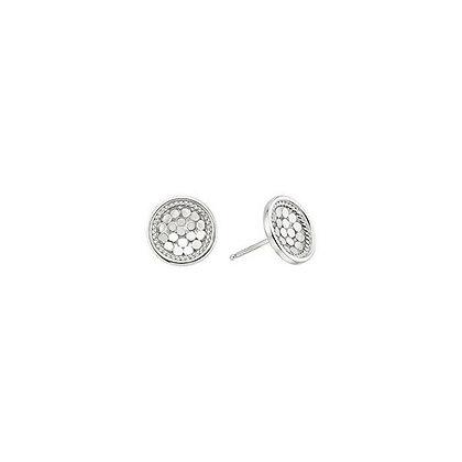 Dish Stud Earring - Silver