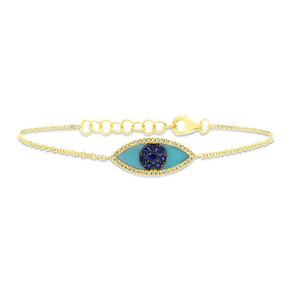 Evil Eye Bracelet - Yellow