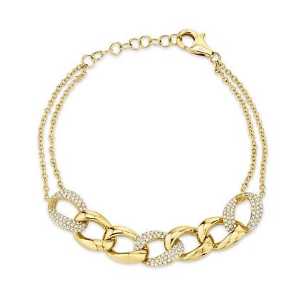 Diamond Pavé Link Bracelet
