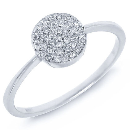 Diamond Pavé Cirlce Ring