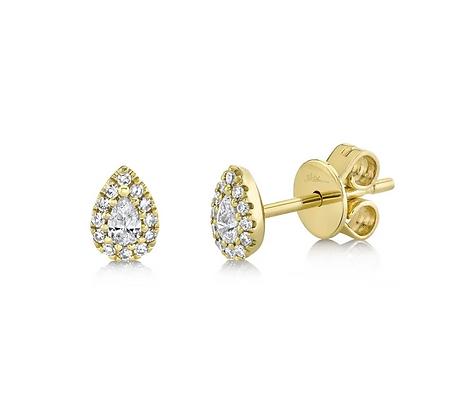 Pear Stud Earring