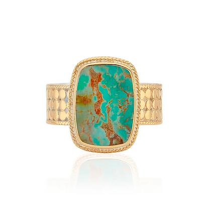Turquoise Cushion Ring