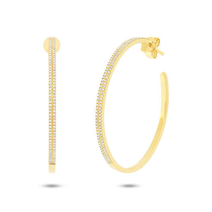 Classic Diamond Hoop Earring 0.46CT