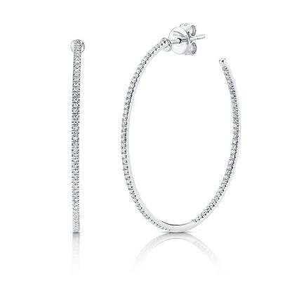0.36ct Diamond Hoop Earring