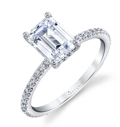 Maryam - Emerald Cut Solitaire