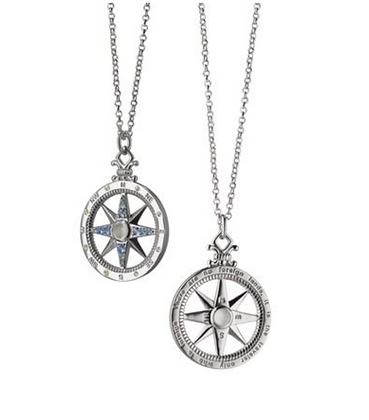 """""""Travel"""" Global Compass Charm Necklace"""
