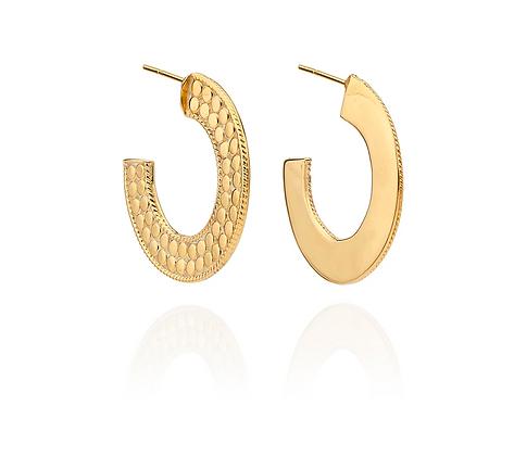 Medium Flat Hoop Earrings