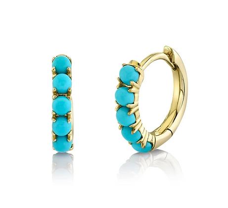 Turquoise Huggie Earring