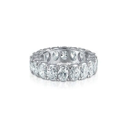 Oval Brilliant Diamond Eternity Band