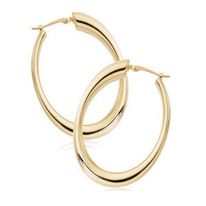 Medium Oval Hoop Earring
