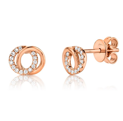 Love Knot Circle Earring - Rose