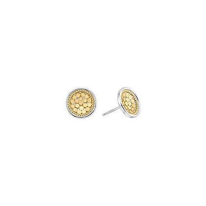 Dish Stud Earring - Gold